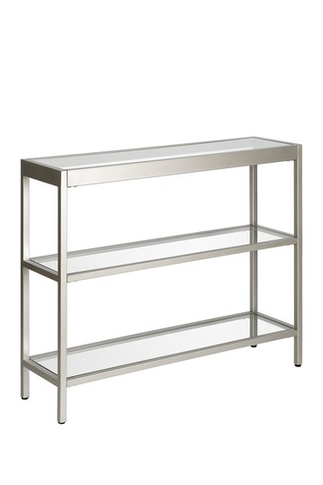 "Alexis 36"" Satin Nickel Console Table Addison and Lane"