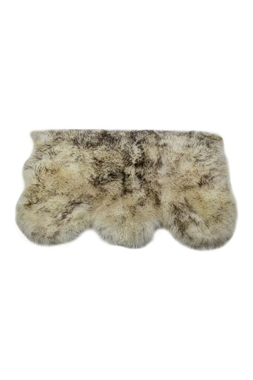 New Zealand Triple Sheepskin Throw - 3ft X 5ft - Gradient Chocolate Natural