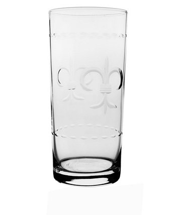 Fleur De Lis Cooler Highball 15Oz - Set Of 4 Glasses Rolf Glass