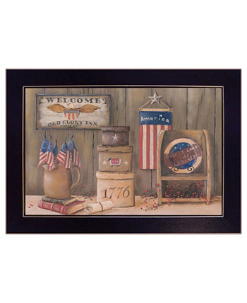 "Sweet Land of Liberty By Pam Britton, Printed Wall Art, Ready to hang, Black Frame, 18"" x 14"" Trendy Décor 4U"