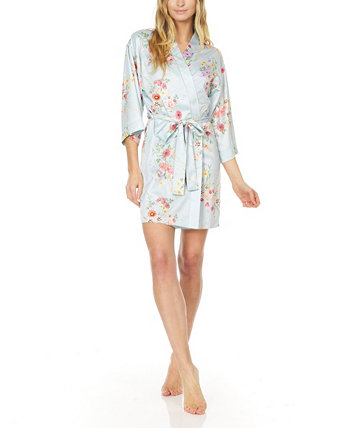 Jolene Printed Charmeuse Wrap Flora Nikrooz Collection