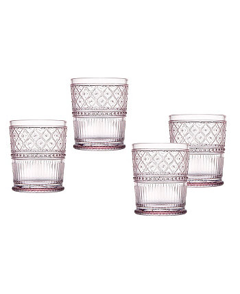 Claro Set of Four 4 Double Old Fashion Glasses, 12 oz Godinger