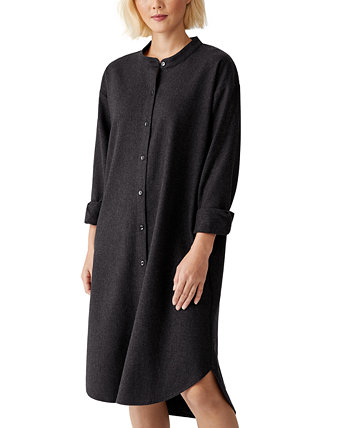 Button-Down Wool Shirt Dress Eileen Fisher