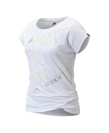 Big Girls Short Sleeve Born To Run Graphic Tee New Balance