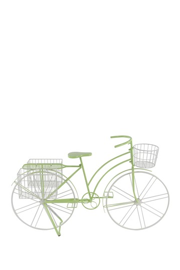 Neon Green/Gray Metal Bicycle Plant Stand Willow Row