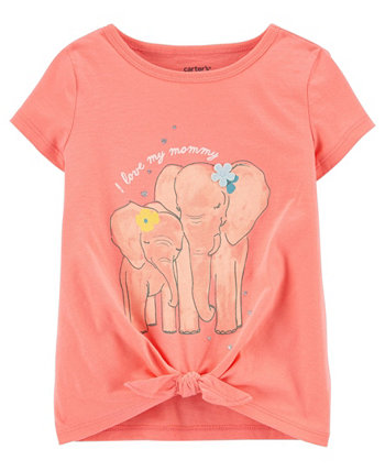 Toddler Girls Elephant Jersey Tee Carters