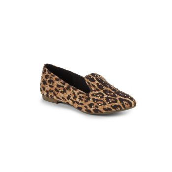 Girl's Jfeather Leopard-Print Loafers Steve Madden