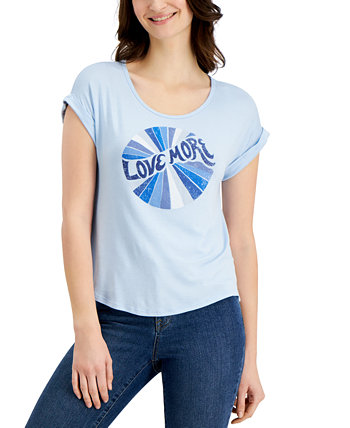 Petite Graphic Print T-Shirt, Created for Macy's Style & Co