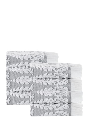 Laina Turkish Cotton Silver Wash Towels - Set of 8 Enchante Home