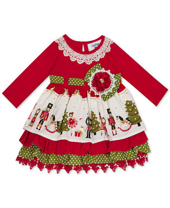 Baby Girls Tiered Printed Dress Rare Editions