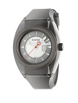 Sync Stainless Steel Rubber Watch GUCCI