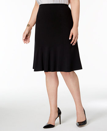 Plus Size Flared-Hem Skirt Nine West