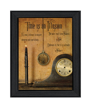 "Time is the Illusion By Billy Jacobs, Printed Wall Art, Ready to hang, Black Frame, 19"" x 15"" Trendy Décor 4U"