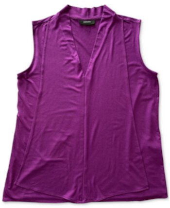 V-Neck Seamed Sleeveless Tank Top, Created for Macy's Alfani