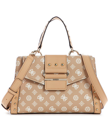 Greta Logo Girlfriend Satchel GUESS