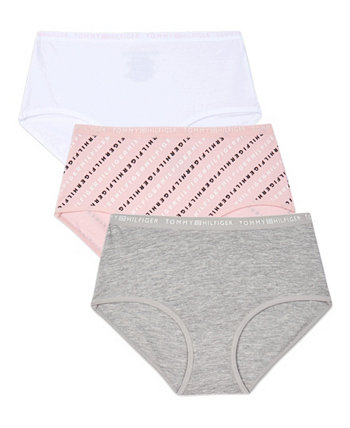 Big Girls Diagonal Logo Hipster Underwear, 3 Pack Tommy Hilfiger