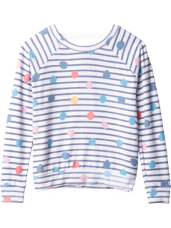 Love Knit Long Sleeve Scoop Back Pullover (Little Kids/Big Kids) Chaser Kids
