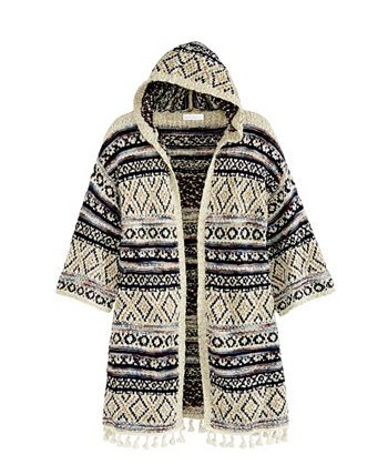 Women's Novelty Poncho Cardigan with Hoodie Adyson Parker