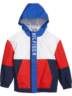 Hams Windbreaker Jacket with VELCRO® Closure at Sides (Little Kids/Big Kids) Tommy Hilfiger Adaptive
