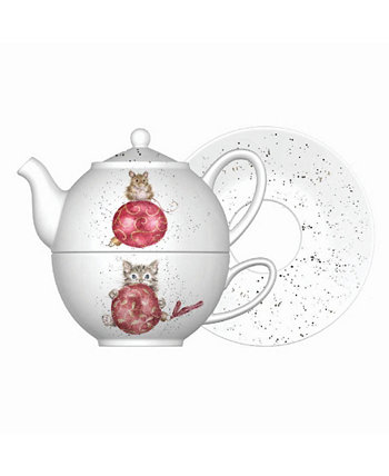 Tea for One with Saucer Wrendale Designs