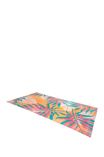 Tropical Leaves Rectangle Beach Towel Moda At Home