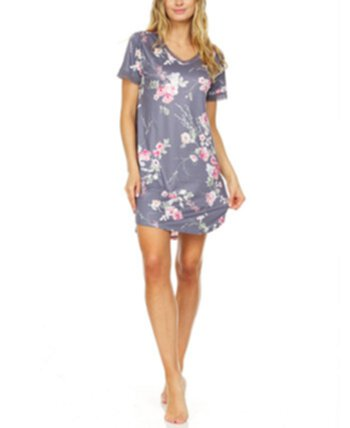 Floral by Floral Nikrooz Patricia Lace-Trim Floral-Print Sleep T-Shirt Flora Nikrooz Collection