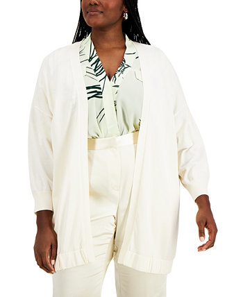 Plus Size Open-Front Cardigan, Created for Macy's Alfani