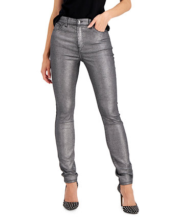 INC Metallic-Coated Skinny Ankle Jeans, Created for Macy's INC International Concepts