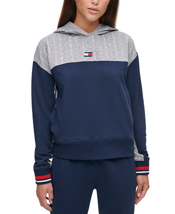 Cable-Knit Colorblocked Hoodie Tommy Hilfiger