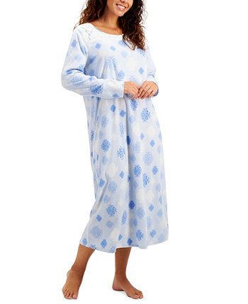 Petite Cozy Fleece Long Nightgown, Created for Macy's Charter Club