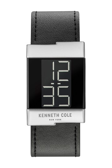 Men's LCD Leather Strap Watch, 28mm Kenneth Cole New York