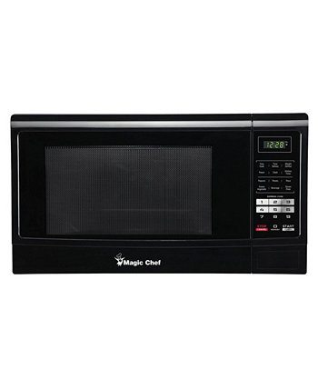 Magic Chef 1.6 Cubic Feet 1100W Countertop Microwave Oven with Push-Button Door Intel
