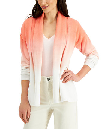Cotton Dip-Dyed Cardigan, Created for Macy's Style & Co