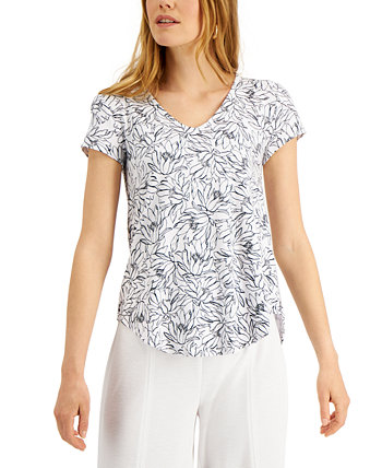 Printed V-Neck T-Shirt, Created for Macy's Alfani