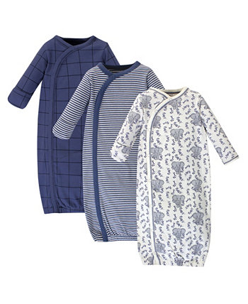 Baby Girl Organic Kimono Gown 3-Pack Touched by Nature