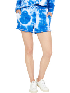 """""""Tie-Dye Star"""" Linen French Terry Easy Shorts Chaser"""