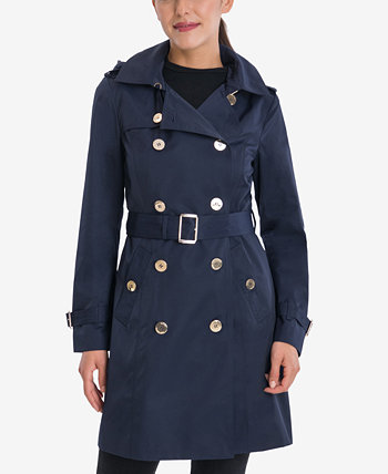 Belted Hooded Trench Coat Michael Kors