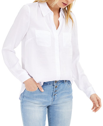 INC Satin Utility Shirt, созданная для Macy's INC International Concepts