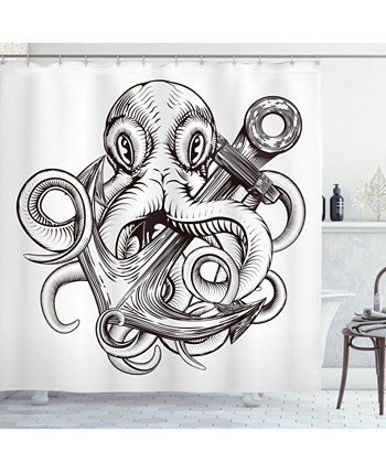 Anchor Shower Curtain Ambesonne