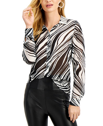 Clouis Zebra-Print Shirt GUESS