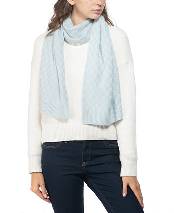 Cashmere Check-Knit Muffler Scarf, Created for Macy's Charter Club