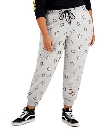 Trendy Plus Size Ripped Jogger Pants FULL CIRCLE TRENDS