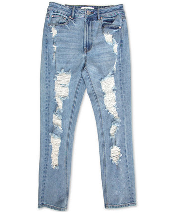 Juniors' Destructed High-Rise Skinny Jeans Almost Famous