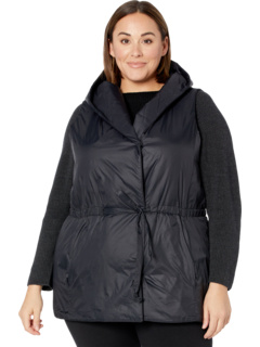 Plus Size Hooded Vest Eileen Fisher