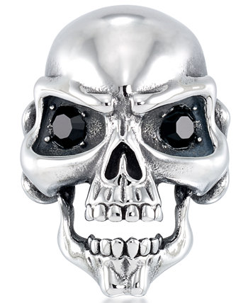 Men's Cubic Zirconia Signature Skull Ring in Stainless Steel Andrew Charles by Andy Hilfiger
