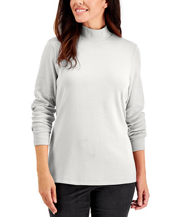 Petite Mock-Neck Long-Sleeve Top, Created for Macy's Karen Scott