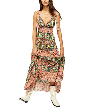 Let's Smock About It Maxi Dress Free People