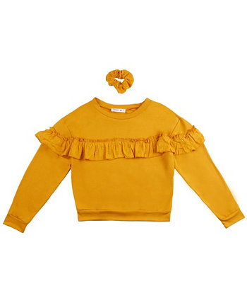 Girls French Terry Ruffle Top Beautees