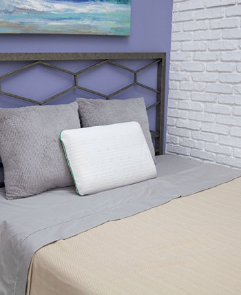 Fresh and Clean Classic Comfort Memory Foam Pillow with Ultra-Fresh Treated Fabric, Standard BioPEDIC
