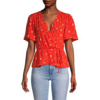 Floral Surplice Blouse ASTR the Label